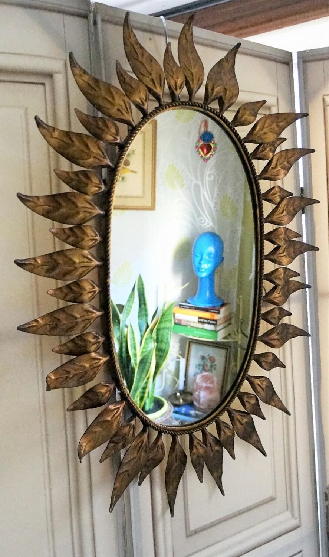 Espejo Sunburst Ovalado 60s