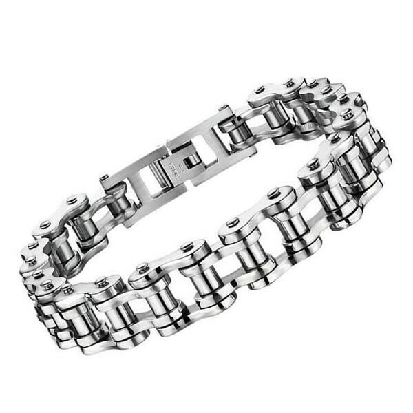 Bracelet Biker Chain en Acier Inoxydable