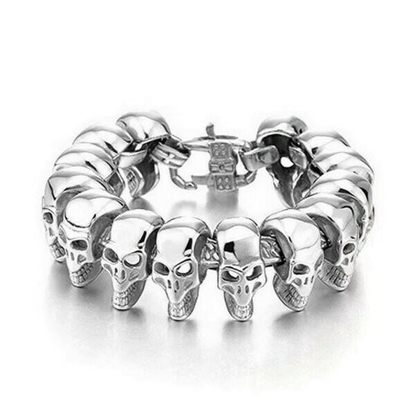 Bracelet Acier Tête de Mort Acier