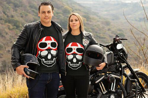 T-Shirt Bio Ghost Biker Noir