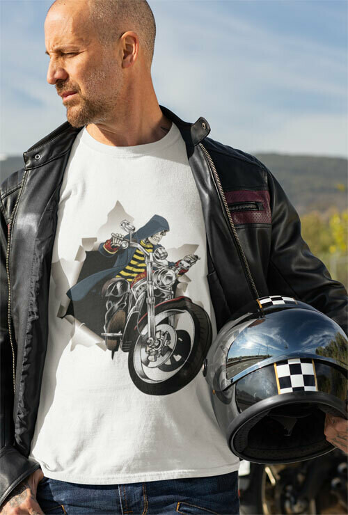 T-Shirt Premium Adren Liz On His Bike