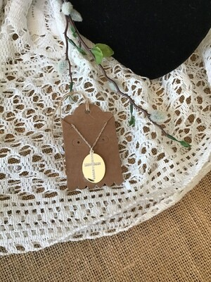 Medallion With Cross Necklace