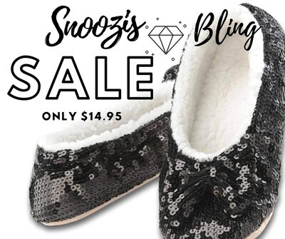 Snoozies Bling Sequin Slippers