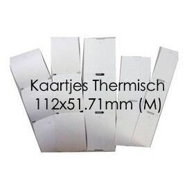 Labelprinter kaartjes enkel (2 naast elkaar) (M)