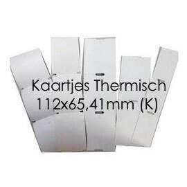 Labelprinterkaartjes (dubbel) thermo top (12 ) (K)