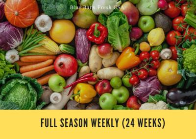 CSA Produce Box- Full Season May-October  ** WEEKLY (24 Weeks)