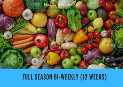CSA Produce Box- Full Season B-BLOCK  May-October ** BI-WEEKLY (12 Weeks)