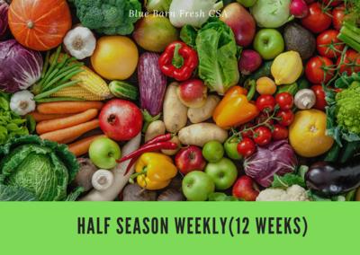 CSA Produce Box- Half Season May-July ** WEEKLY (11 Weeks)