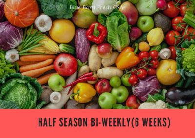 CSA Produce Box- Half Season B-BLOCK May-July ** BI-WEEKLY (6 Weeks)