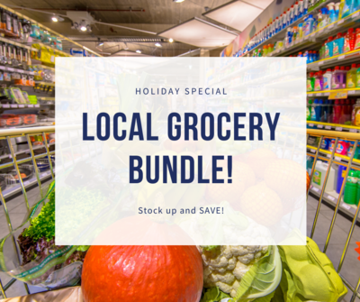 LOCAL GROCERY BUNDLE!  Veggies, Snacks, Meats & More!