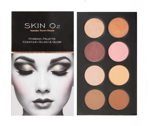 Skin O2 Contour Blush & Glow Powder Palette