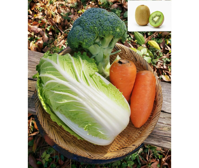 チリンチリン三鷹農家定期便 野菜詰め合わせ+季節の果物(水・金・土限定)