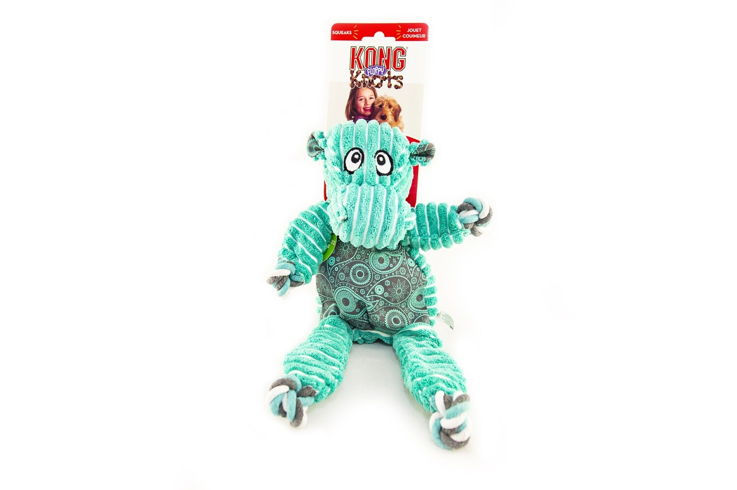 KONG Floppy Knots Hippo
