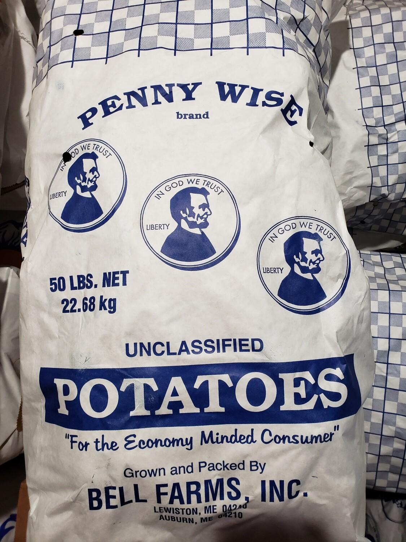 Potatoes Unclassified 50lb