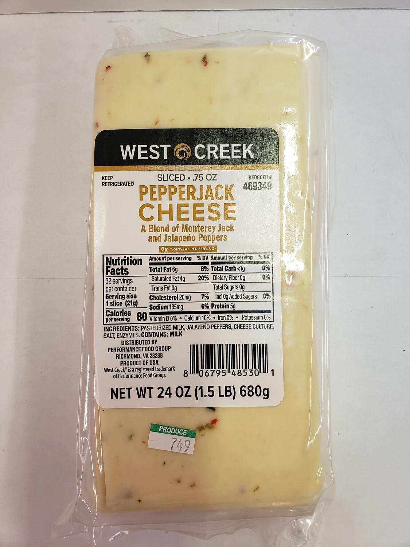 Cheese Pepper Jack Sliced 24oz