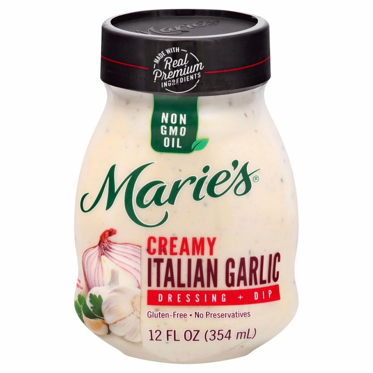 Marie's Creamy Italian Garlic Dressing + Dip 12oz