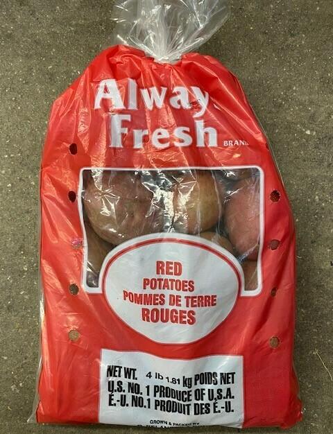 Potatoes Red 4lb NATIVE
