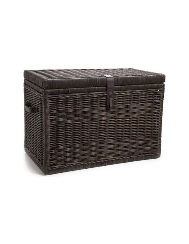 Fundraising item! Wicker Storage  Trunk, Antique Walnut Brown