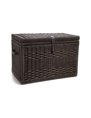 Fundraising item! Wicker Storage  Trunk, Antique Walnut Brown