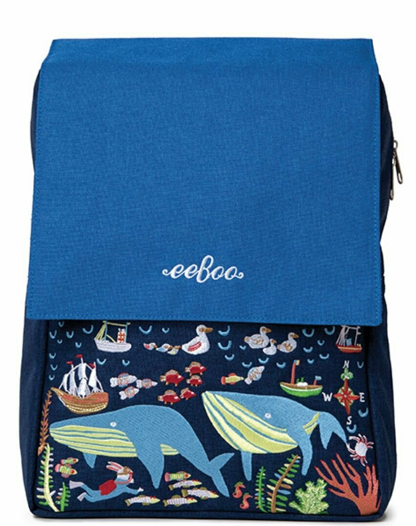Embroidered Whale Backpack