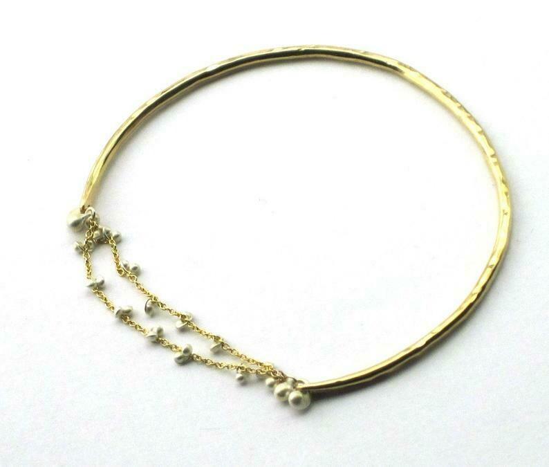 Bracelet, Caviar Bangle in Sterling