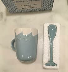 Splish Splash Whale Mug with Whale Tail Stirrer