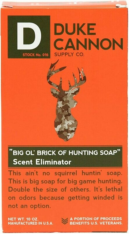 Duke Cannon Big 'Ol Brick of Hunting Soap, Scent Eliminator, 10oz