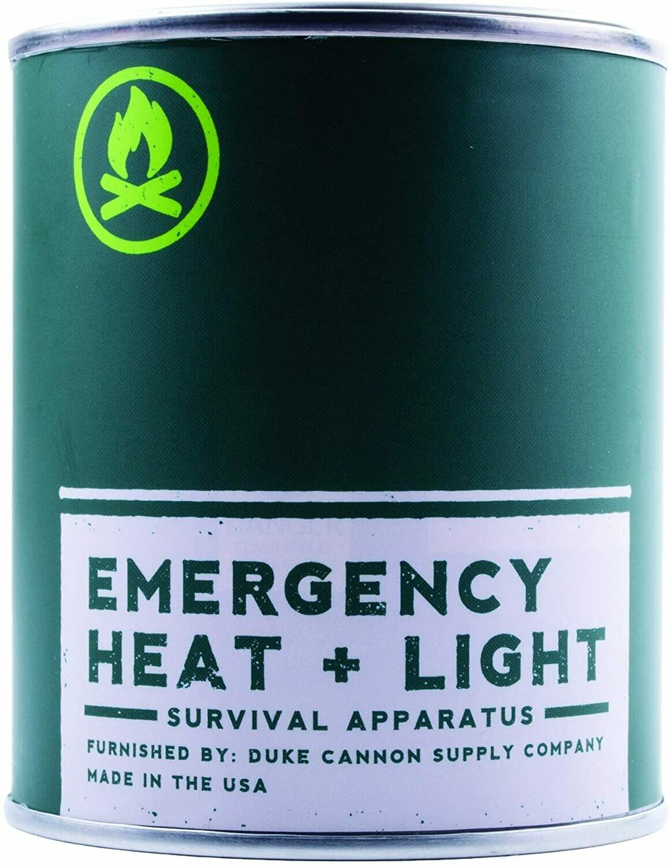 Duke Cannon Emergency Heat + Light Man Candle - Fresh Cut Pine Scent