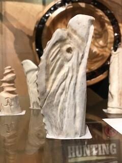 Carved Eagle Head, Shed Antler