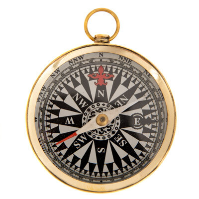 Brass 3' pocket compass