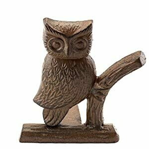 Cast Iron Owl Door Stop