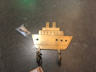 Hook, metal boat