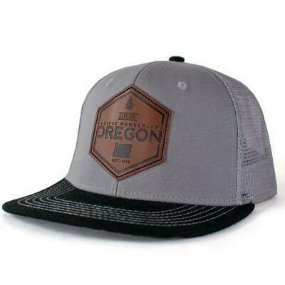 EXPLORE OREGON WITH WOOL-LINED BRIM | FLAT BILL TRUCKER HAT