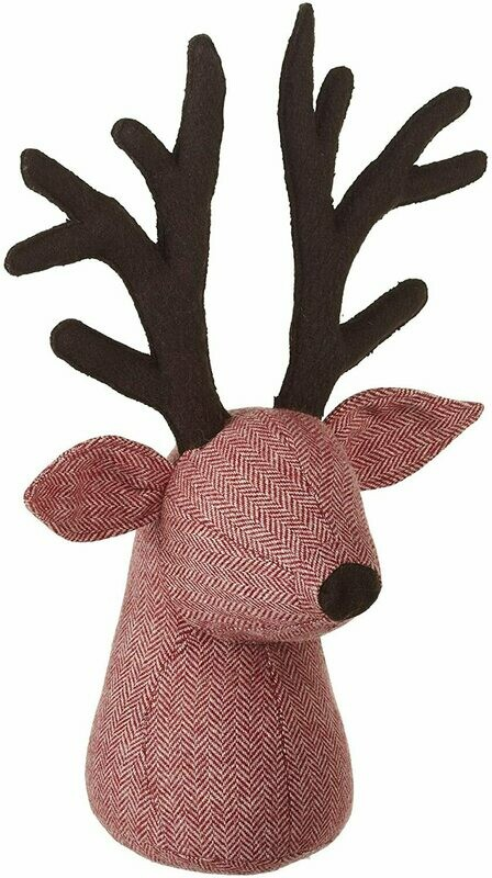 Door stop, wool stag