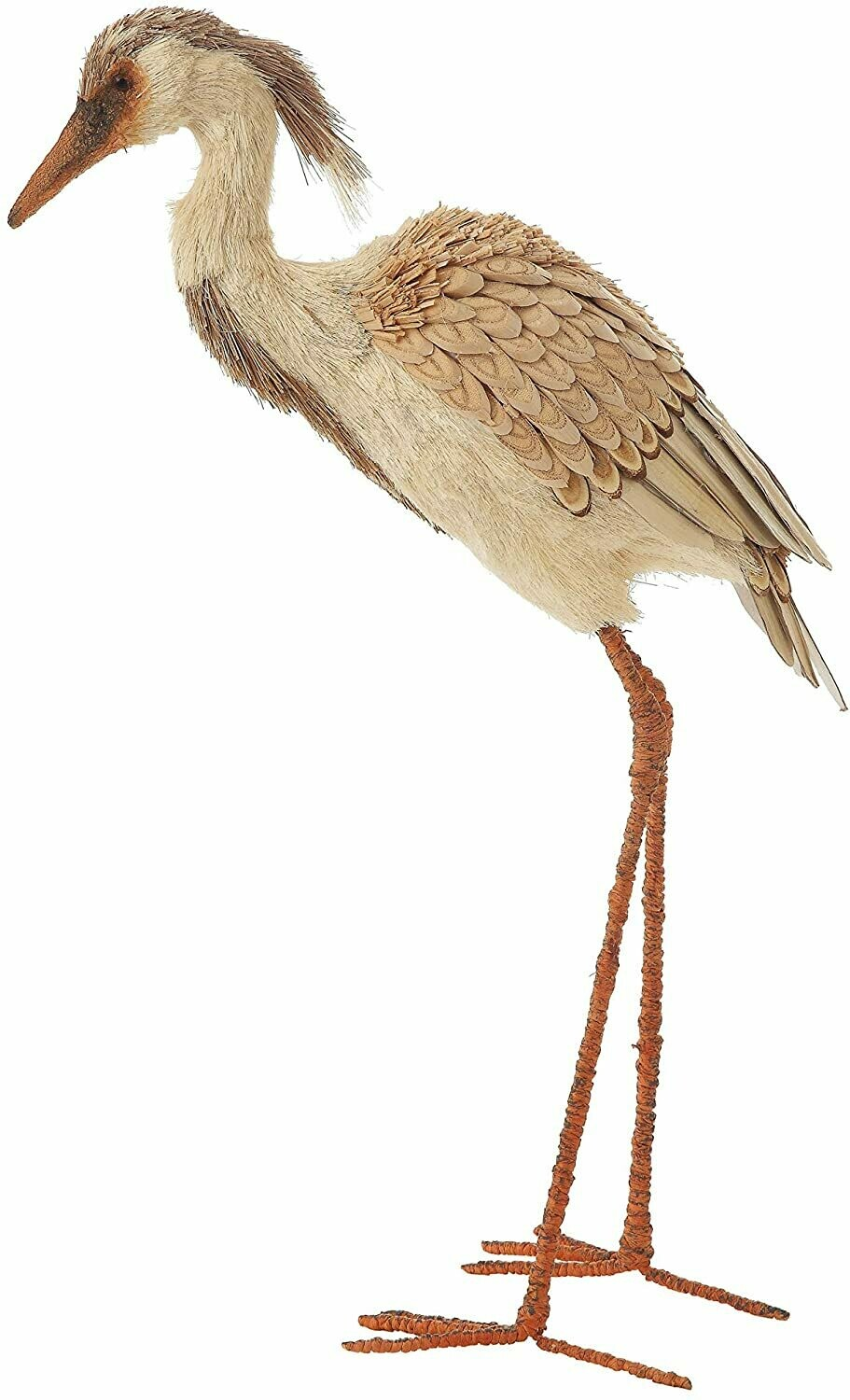 Hand made sisal and seagrass standing Egret