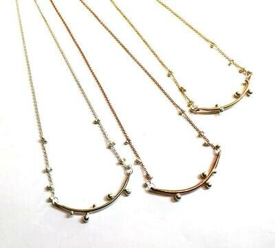 Bulb Bar Necklace in 14k Goldfilled and Sterling Silver