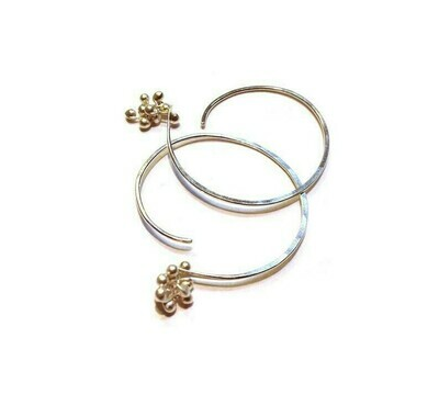 Soft Hoop Earrings, Sterling Silver