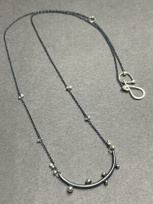 Bulb Bar Sterling Necklace, Hand Made