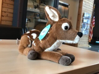 Laying Down Fawn Plush