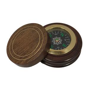Compass, wood base