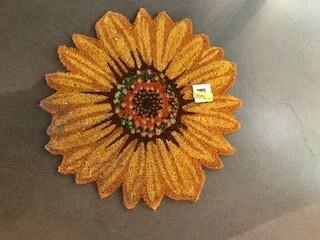 Flower door mat