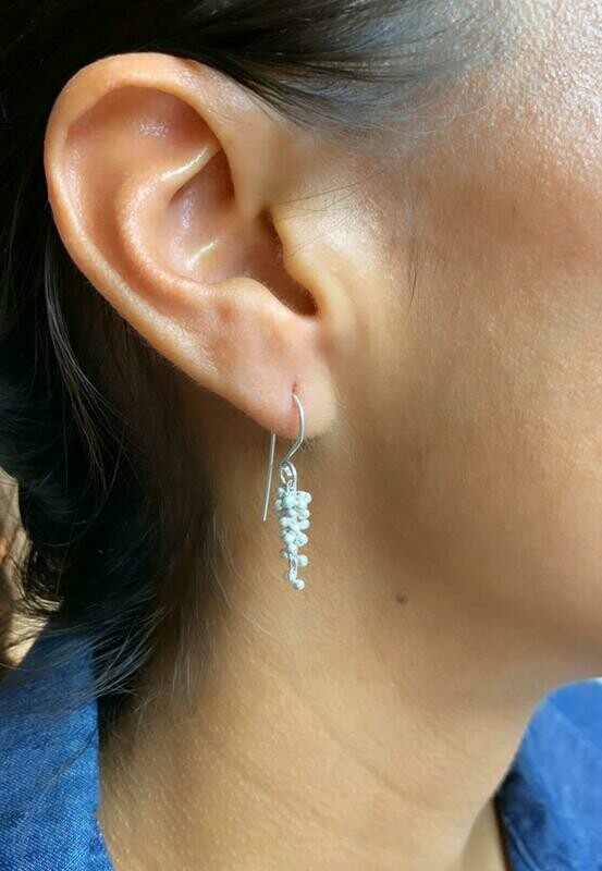 Wisteria Cluster Earrings, Sterling Silver