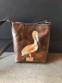 Handcrafted Leather Pelican Purse