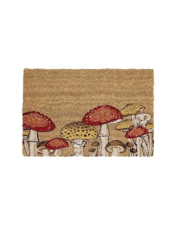 Door mat. toadstool