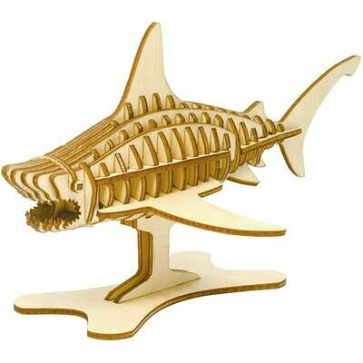 3D Wooden Puzzle, Miniature Shark