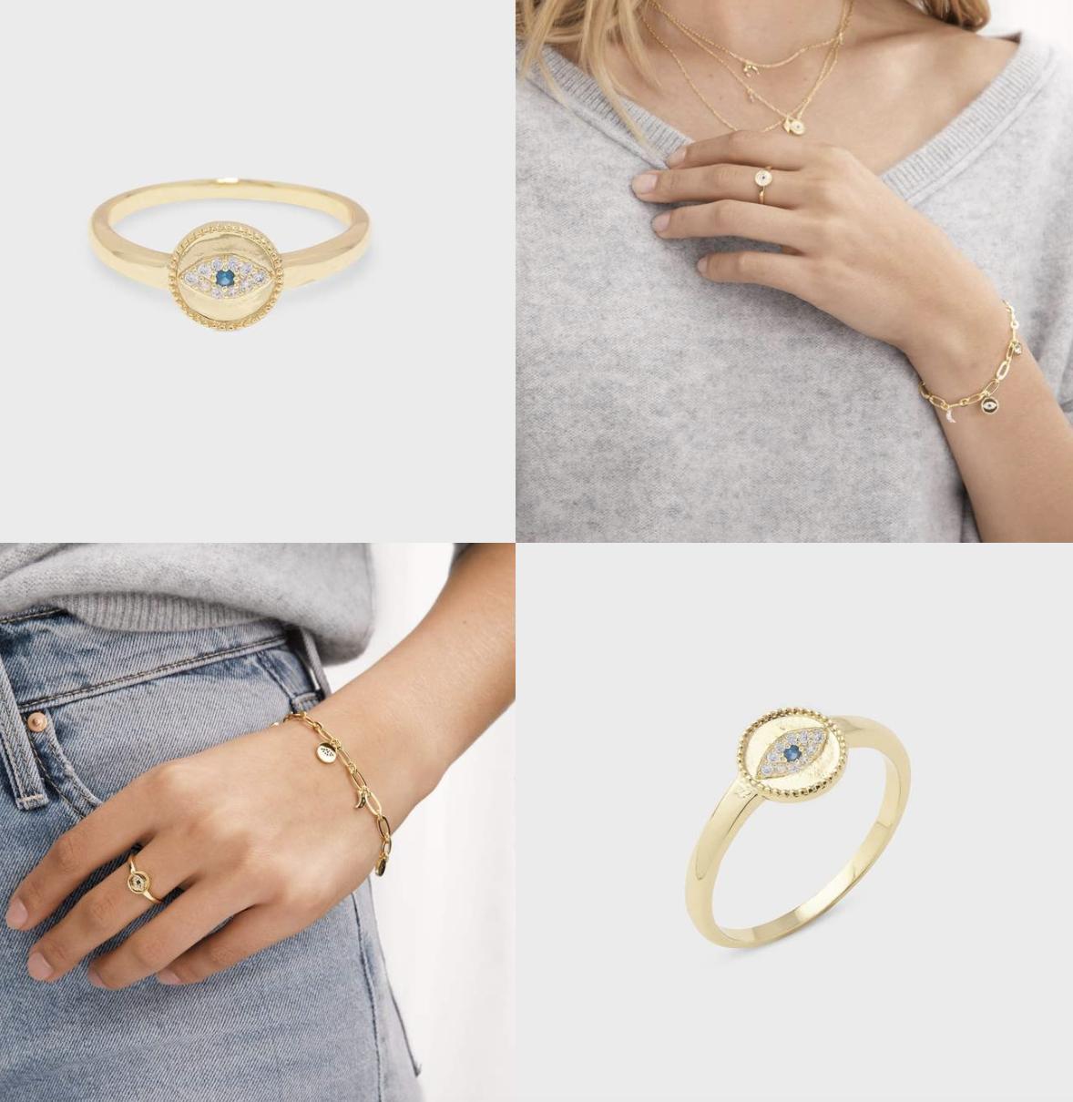 Evil Eye Coin Ring