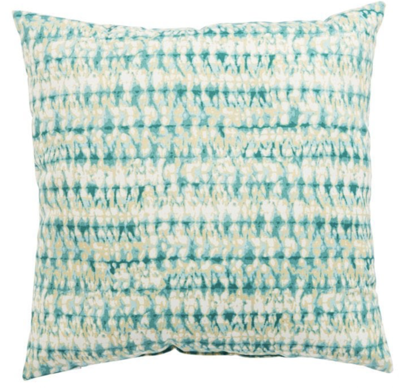 Veranda Teal Batik Pillow