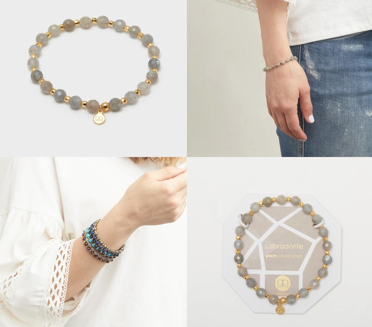 Power Gemstone Elastic Bracelet for Balance