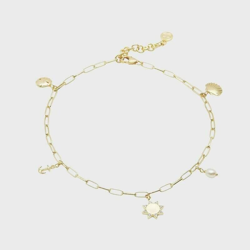 Seashell Charm Anklet