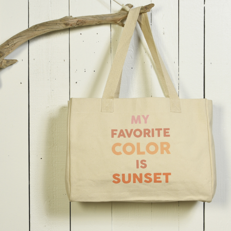 Canvas Tote- My Favorite Color is Sunset